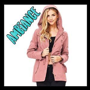 🧡NWOT🧡Ambiance Rose cargo utility jacket